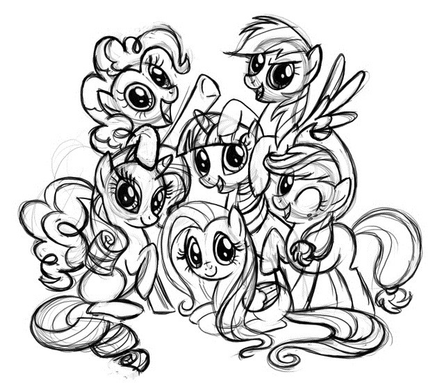 Image Result For Fluttershy Coloring Pages