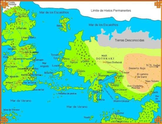 Westeros y Mar Dothraki